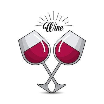 Glass with wine icon image