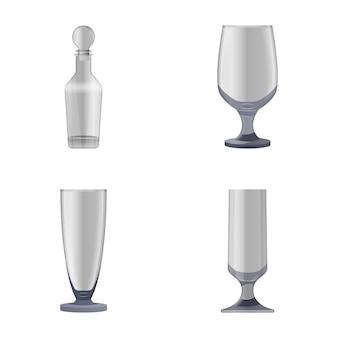 Glasses and bottles icons