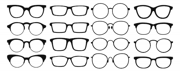 Glasses collection. sunglasses set.  illustration.