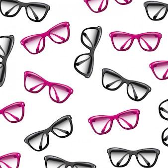 Glasses design over white background vector illustration