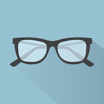 Glasses flat icon for web design, vector illustration