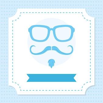 Glasses and moustache illustration