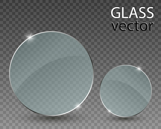 Очки на прозрачном фоне. пустая прозрачная стеклянная рамка.