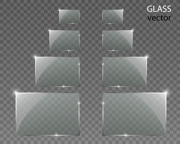 Glasses on transparent background. empty transparent glass frame.