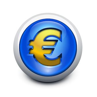 Стеклянная кнопка евро