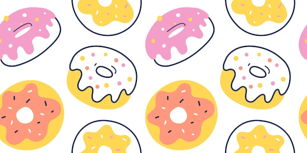 Glazed donut pattern, seamless