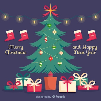 Gleaming christmas tree background