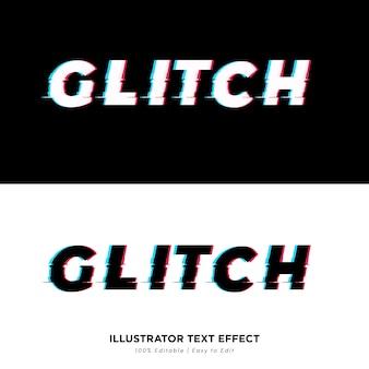 Glich text effect editable font