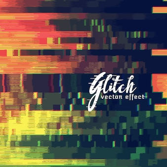 Glitch abstract background showing malfunction