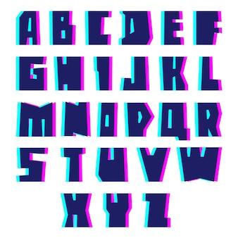 Глюк алфавит. письма с эффектом.