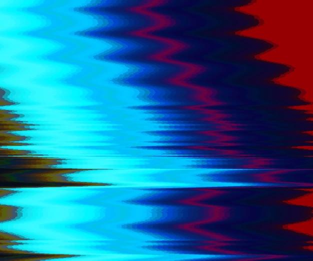 グリッチの背景。デジタル画像データの歪み。カラフルな抽象的な背景。信号エラーのカオス美学。デジタル減衰。