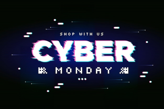 Glitch banner cyber monday