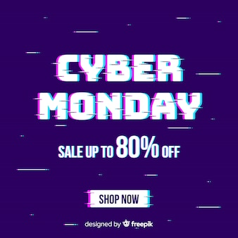 Glitch cyber monday background
