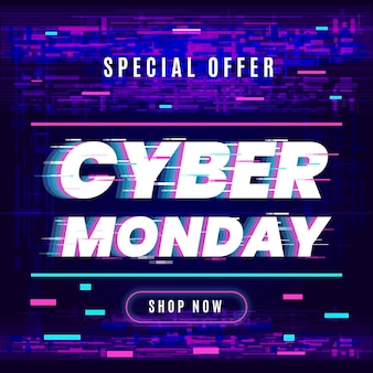 Glitch cyber monday design