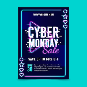 Glitch cyber monday flyer