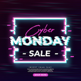 Glitch cyber monday sale banner