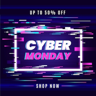 Glitch cyber monday in speed lines