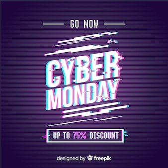 Glitch cyber monday super sale banner