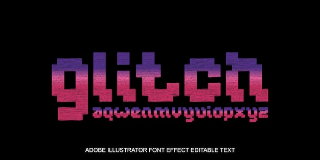 Glitch editable effect