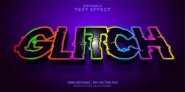 Glitch editable text effect