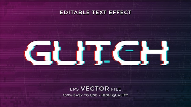 Glitch editable text effect