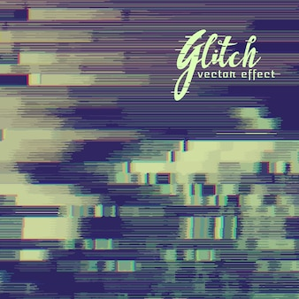 Glitch effect background with distortion