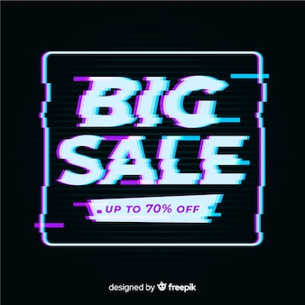 Glitch effect sale background