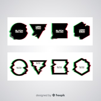 Glitch effect symbol collection