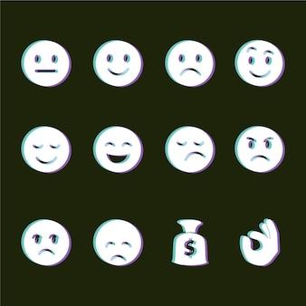 Глюк смайликов икон коллекции