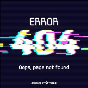 Glitch error 404 background