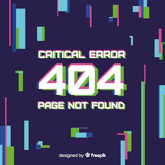 Glitch error 404 background