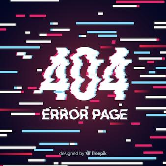 글리치 오류 404 페이지 배경
