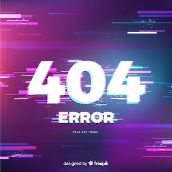 Glitch error 404 page background