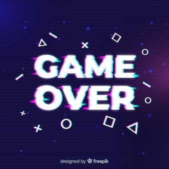Glitch game over background
