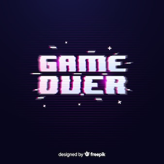 Glitch game over background