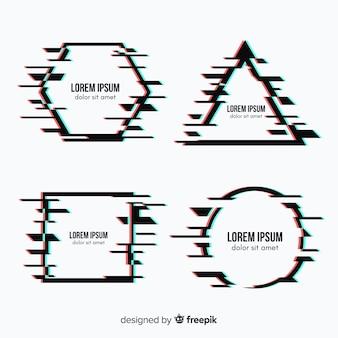 Коллекция геометрических фигур glitch