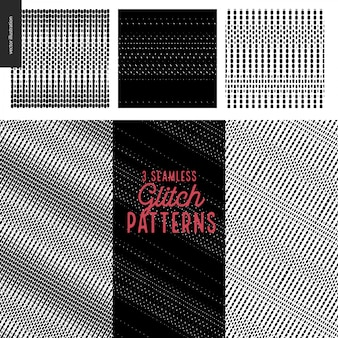 Glitch patterns set