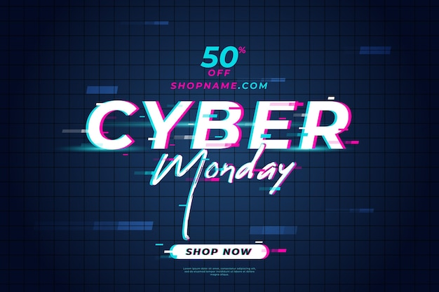 Glitch sale banner cyber monday