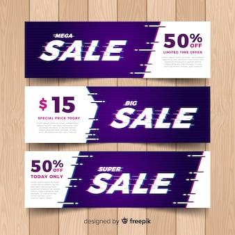 Glitch sale banners