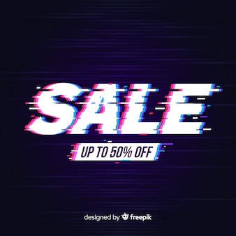 Glitch sale banners