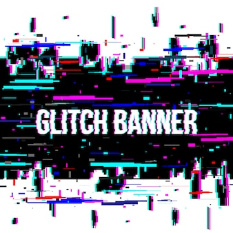 Glitch style distorted background.