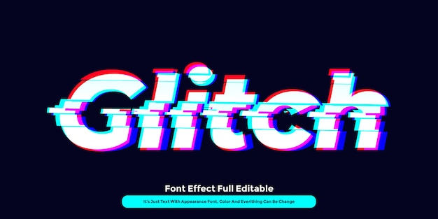 Glitch technology text effect