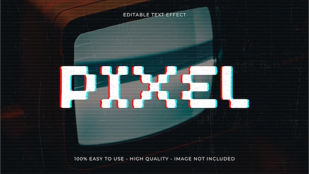 Glitch text effect concept