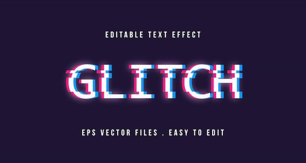 Glitch text effect, editable text