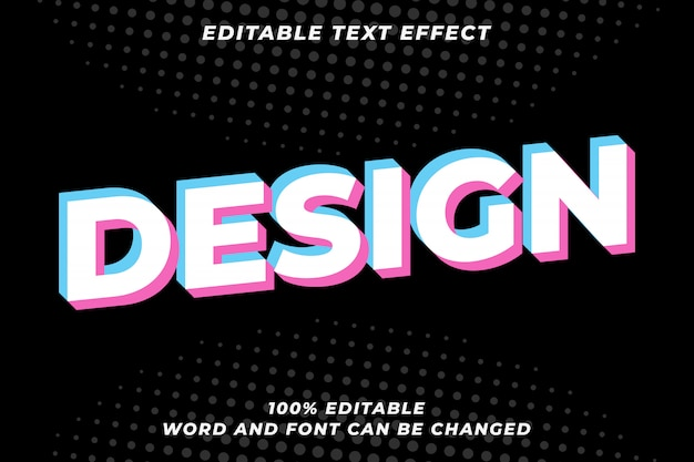 Glitch text style effect
