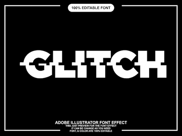Glitch text style font effect