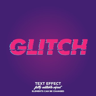 Glitch text style