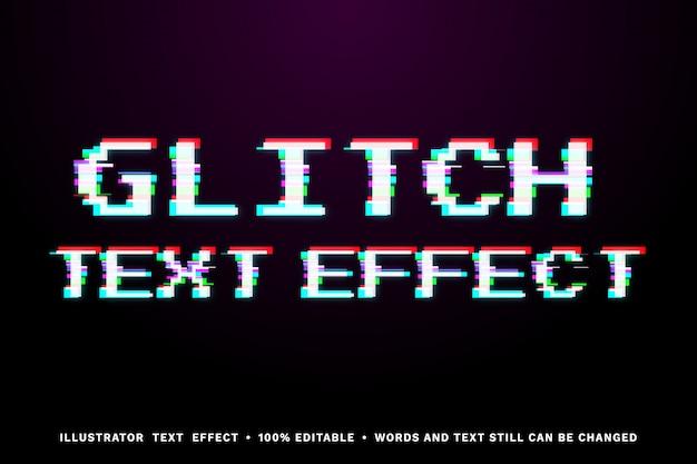 Текстовый эффект glitch - легко редактируемый стиль текста