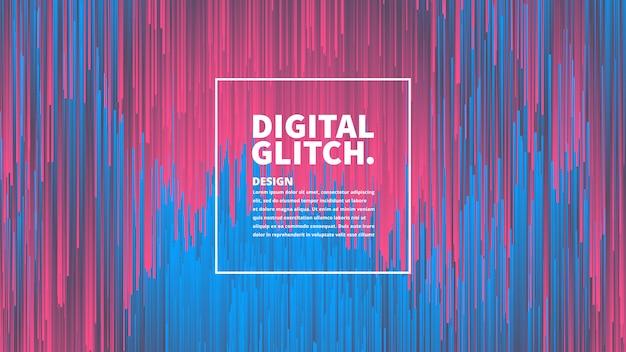 Цифровая технология эффекта glitch абстрактный фон