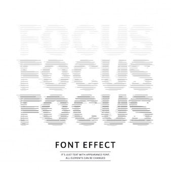 Glitched focus line text effect